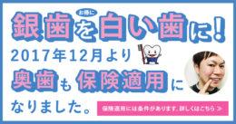 【白い歯】2017年12月より奥歯も保険適用に【CADCAM冠/東京/歯科】