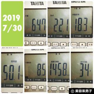 【体験40日目】海外プロテインを飲み続けた体重と肌質の変化は?-02