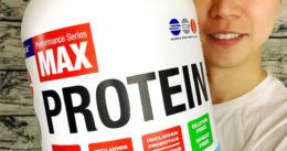 【筋トレ】胃に優しい低脂肪ホエイ「マックスプロテイン」体験開始