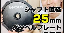 【筋トレ】シャフト直径25mmのダンベルプレートを探す(Wolfyok他)