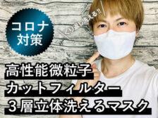 【コロナ対策】高性能微粒子カットフィルター3層立体洗えるマスク-00