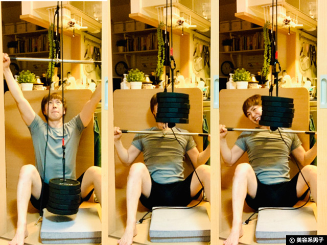 【筋トレ】家庭用ケーブルトレーニングマシン種類を増やす自作器具-03