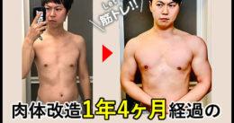 【筋トレ】肉体改造1年4ヶ月経過の自宅メニューの効果と頻度など