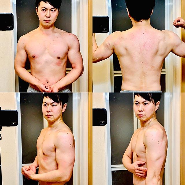 【筋トレ】肉体改造1年4ヶ月経過の自宅メニューの効果と頻度など-02