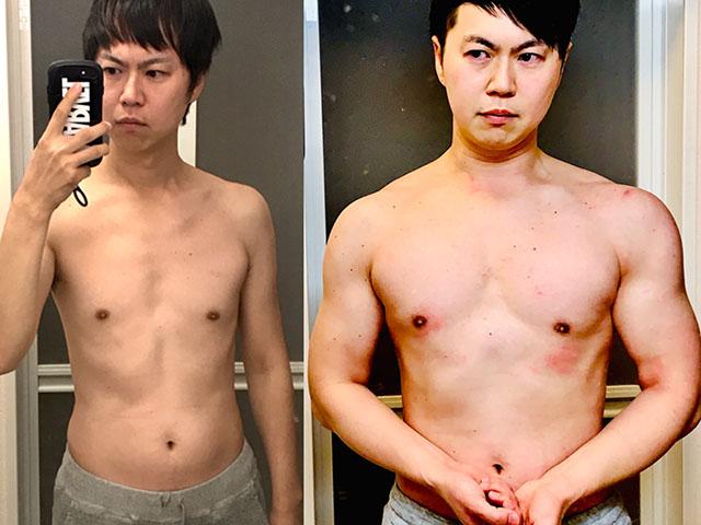 【筋トレ】肉体改造1年4ヶ月経過の自宅メニューの効果と頻度など-03