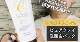 【泡立て不要】セルベスト化粧品 「ピュアクレイ洗顔&パック」感想